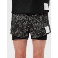 Satisfy Men's Short Distance 3  Shorts - Mustangs - L - Black