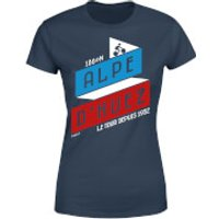 ALPE D'HUEZ Women's T-Shirt - Navy - XL - Navy