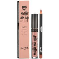 Barry M Cosmetics Matte Me Up Lip Kit (Various Shades) - Go To