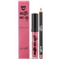 Barry M Cosmetics Matte Me Up Metallic Lip Kit (Various Shades) - Allure