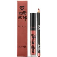 Barry M Cosmetics Matte Me Up Metallic Lip Kit (Various Shades) - Prestige