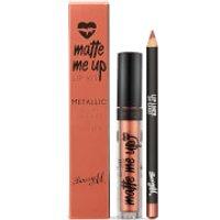 Barry M Cosmetics Matte Me Up Metallic Lip Kit (Various Shades) - 24 Carat