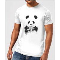 Skull Panda Mens T-Shirt - White - 3XL - White