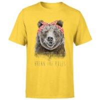 Balazs Solti Break The Rules Men's T-Shirt - Yellow - S - Yellow