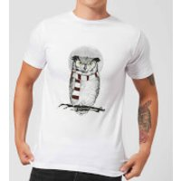 Balazs Solti Owl And Moon Men's T-Shirt - White - M - White