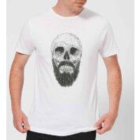 Bearded Skull Mens T-Shirt - White - S - White