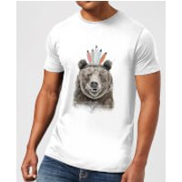 Balazs Solti Native Bear Men's T-Shirt - White - 5XL - White