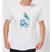 Skull And Crow Mens T-Shirt - White - 3XL - White