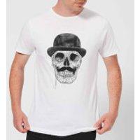 Balazs Solti Monocle Skull Men's T-Shirt - White - XXL - White