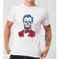 Balazs Solti Suited And Booted Skull Men's T-Shirt - White - S - White