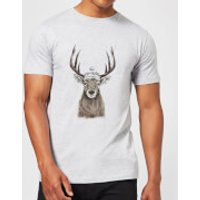 Balazs Solti Winter Deer Men's T-Shirt - Grey - L - Grey