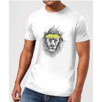Balazs Solti Lion And Sweatband Mens T-Shirt - White - M - White