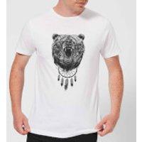 Balazs Solti Dreamcatcher Bear Men's T-Shirt - White - XL - White