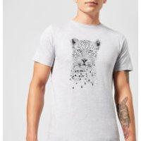 Balazs Solti Leopard Men's T-Shirt - Grey - XL - Grey