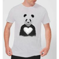 Balazs Solti Panda Love Men's T-Shirt - Grey - S - Grey