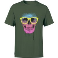 Balazs Solti Skull And Glasses Men's T-Shirt - Forest Green - L - Forest Green