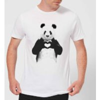 Balazs Solti Panda Love Men's T-Shirt - White - M - White