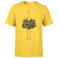 Ostrich Men's T-Shirt - Yellow - XXL - Yellow - Yellow Gifts