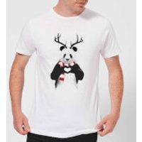 Balazs Solti Winter Panda Mens T-Shirt - White - M - White