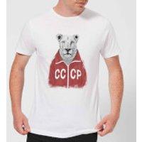 Balazs Solti CCCP Lion Mens T-Shirt - White - 5XL - White
