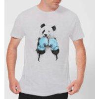 Boxing Panda Mens T-Shirt - Grey - 3XL - Grey