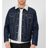 Levi's Men's Type 3 Sherpa Trucker Jacket - Rockridge - XL - Blue