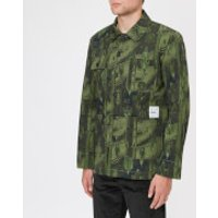 Maison Kitsune Men's Dream Amplifier Worker Jacket - Khaki Print - S - Green