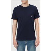 Maison Kitsune Men's T-Shirt Tricolor Fox Patch - Navy - S