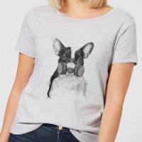 Masked Bulldog Womens T-Shirt - Grey - 5XL - Grey