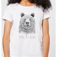 Ring My Bear Womens T-Shirt - White - 5XL - White