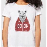 Balazs Solti CCCP Lion Women's T-Shirt - White - XS - White