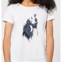 Balazs Solti Singing Wolf Women's T-Shirt - White - XL - White - Singing Gifts
