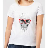 Balazs Solti Skull And Glasses Women's T-Shirt - White - XS - White