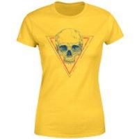 Skull Women's T-Shirt - Yellow - XXL - Yellow - Yellow Gifts