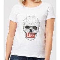 Balazs Solti Life Skull Women's T-Shirt - White - 4XL - White