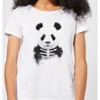 Balazs Solti Skull Panda Women's T-Shirt - White - 5XL - White