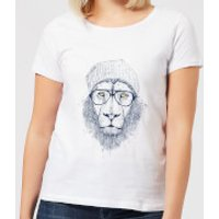 Balazs Solti Lion Women's T-Shirt - White - 5XL - White