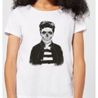 Balazs Solti Cool Skull Women's T-Shirt - White - XS - White - Cool Gifts