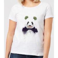 Balazs Solti Joker Panda Women's T-Shirt - White - M - White