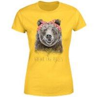 Balazs Solti Break The Rules Women's T-Shirt - Yellow - M - Yellow - Yellow Gifts