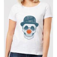 Balazs Solti Red Nosed Skull Women's T-Shirt - White - XXL - White