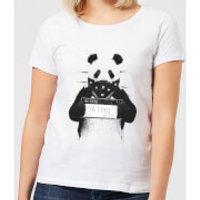 Balazs Solti Bandana Panda Women's T-Shirt - White - XS - White - Panda Gifts