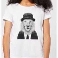 Balazs Solti Monocle Lion Women's T-Shirt - White - 4XL - White