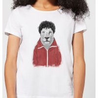 Balazs Solti Sporty Lion Women's T-Shirt - White - 3XL - White
