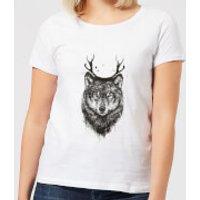 Balazs Solti Wolf Women's T-Shirt - White - XS - White