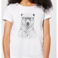 Balazs Solti Polar Bear And Glasses Women's T-Shirt - White - XXL - White - Polar Bear Gifts