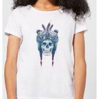 Balazs Solti Bear Head Women's T-Shirt - White - XS - White