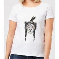Balazs Solti Native Lion Women's T-Shirt - White - XS - White