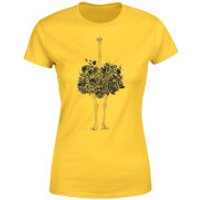 Ostrich Women's T-Shirt - Yellow - S - Yellow - Yellow Gifts