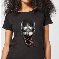 Venom Face Photographic Women's T-Shirt - Black - XS - Black